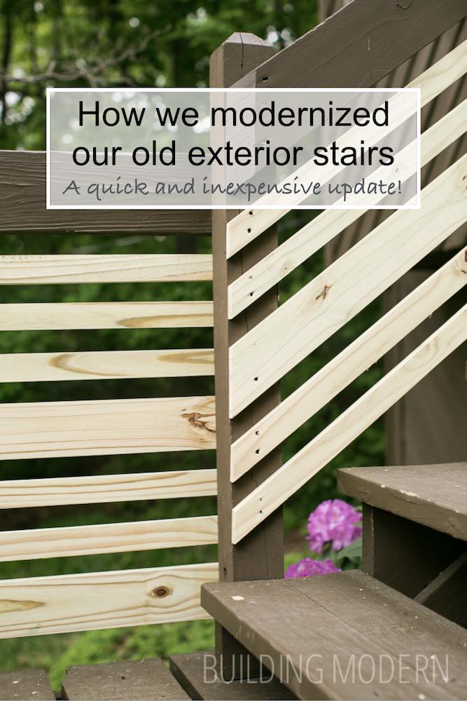 Building Modern exterior stair railings