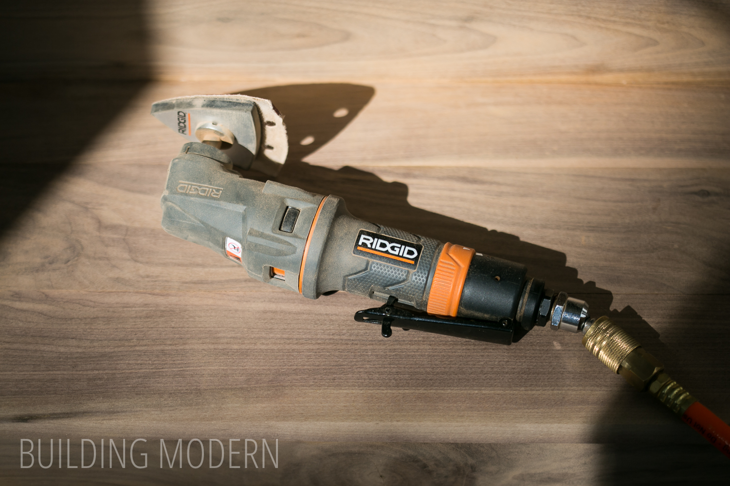 Ridgid pneumatic multi tool with sander attachment