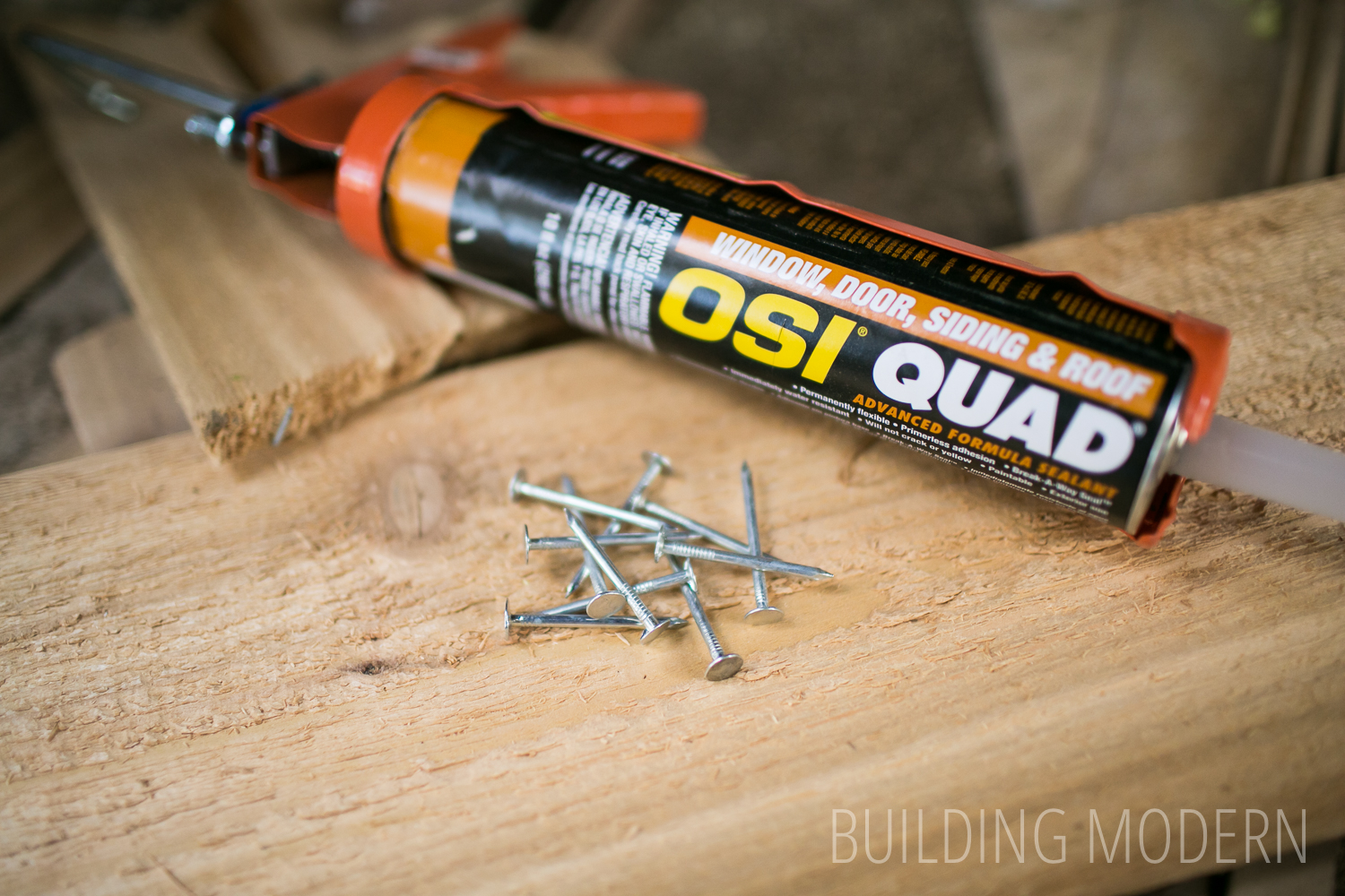 Using OSI Quad exterior caulk