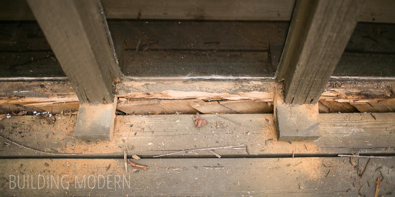 Storefront windowsill repair