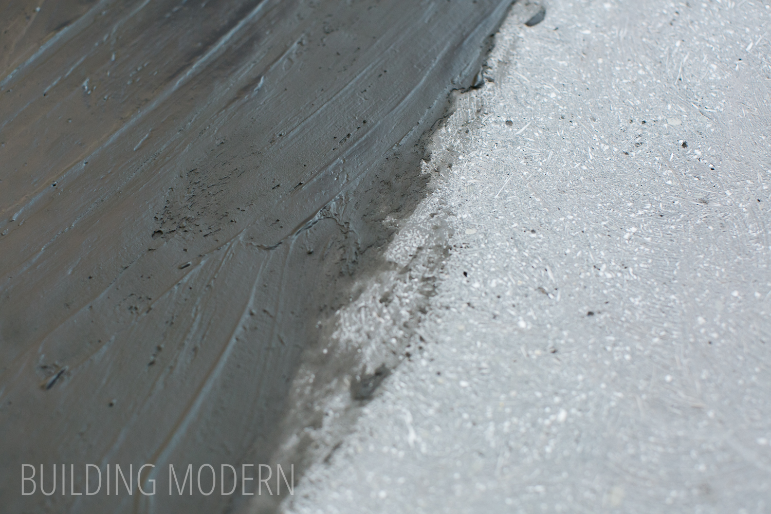 Applying a slurry topcoat finish to concrete countertops