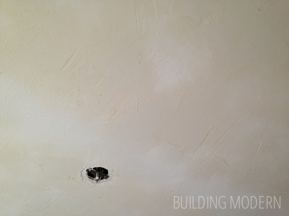 Half Way Through Skim Coating A Stomped Ceiling Texture