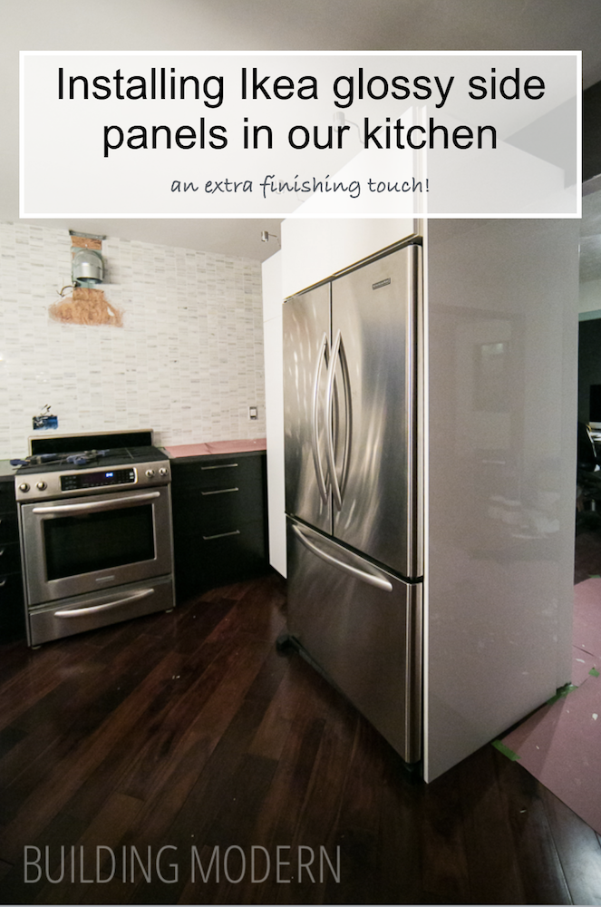 How To Install Ikea Kitchen Glossy Side Panels