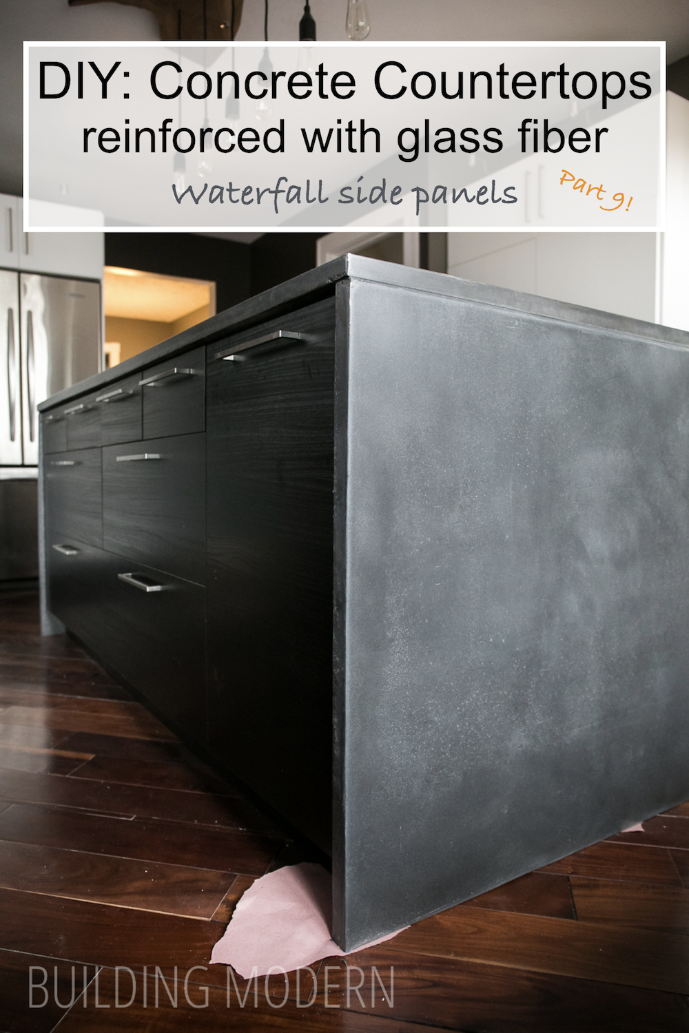 Gl Fiber Concrete Waterfall Countertop How To