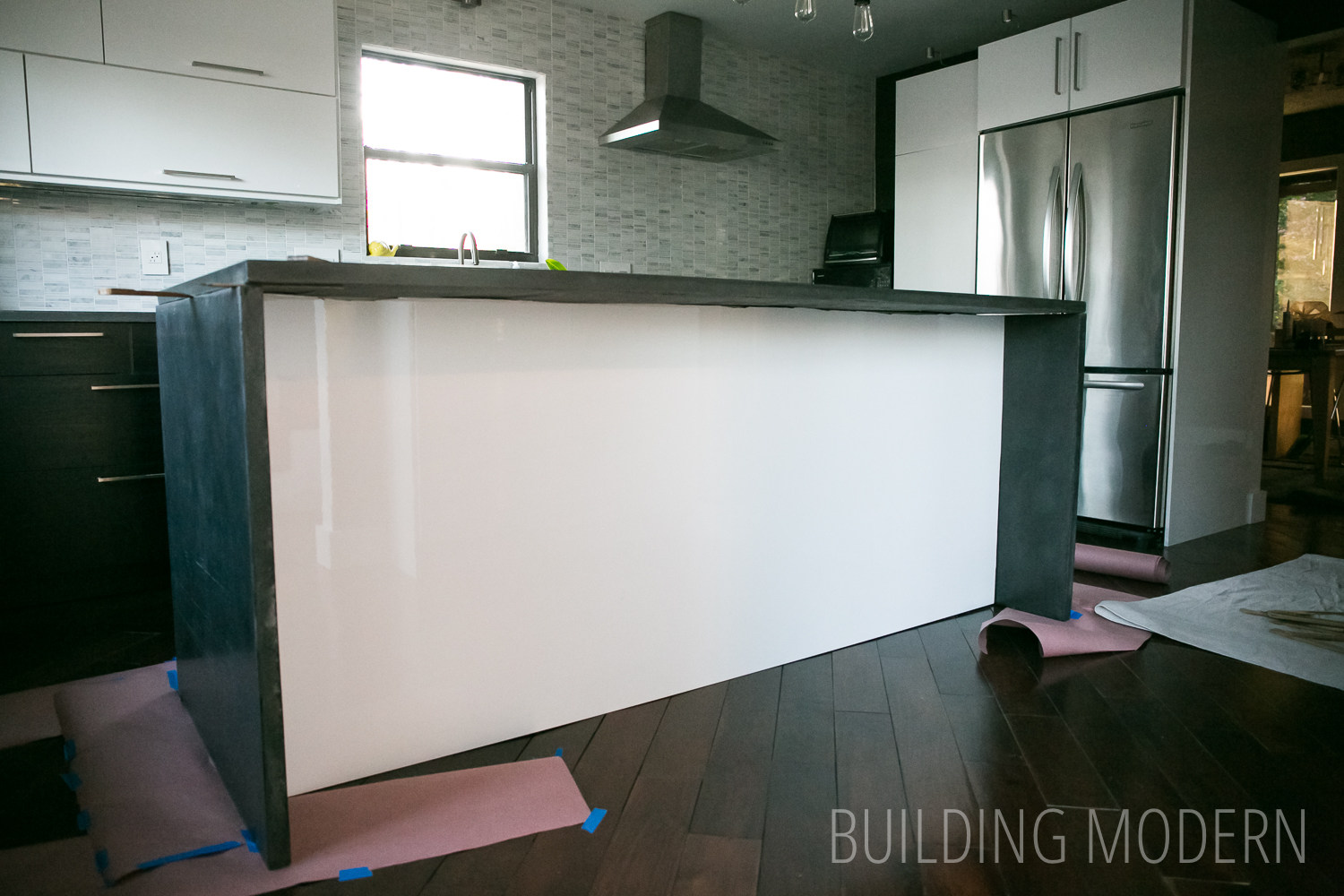 How To Make A Waterfall Island Countertop